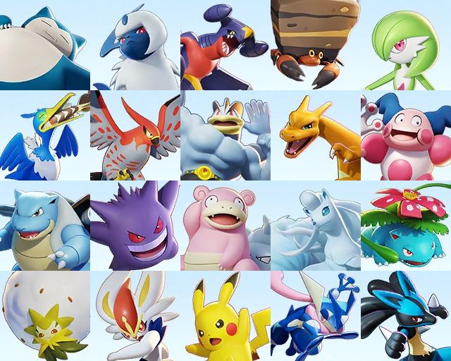 pokemon unite all playable pokemon